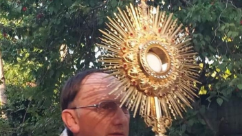 Blessed Sacrament carried through Barangay Mariana