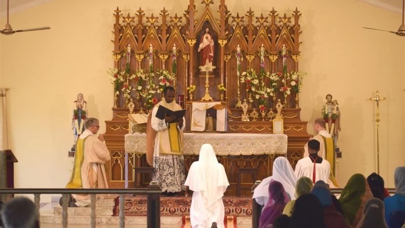 Sr. Maria Michaela giving vows