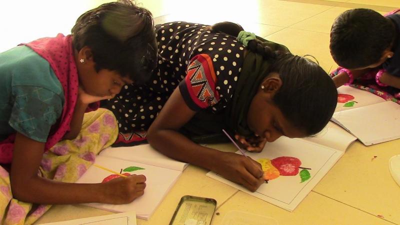 Mukuntha and Manjula giving finishing touches…