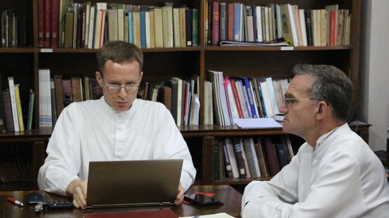 Fr. Pfeiffer and Fr. Demornex